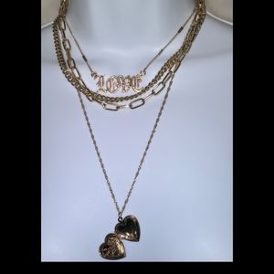 Rose gold i love you locket/necklace (not real)